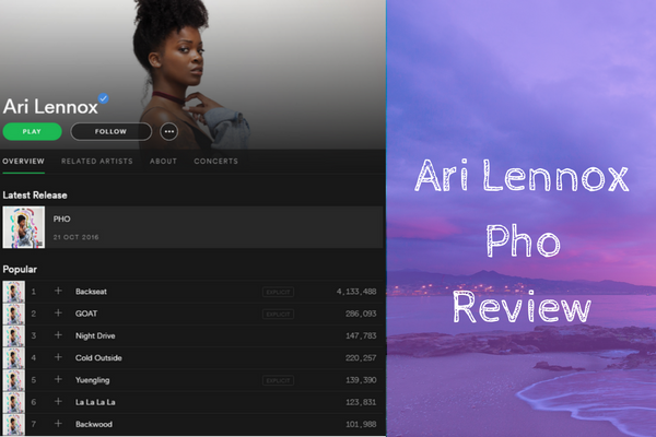 Ari Lennox Pho Review graphic